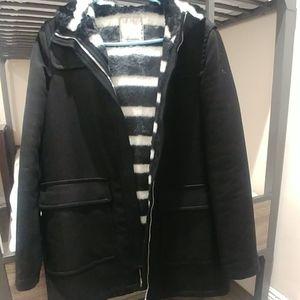 Zara Trafaluc collection black hooded coat